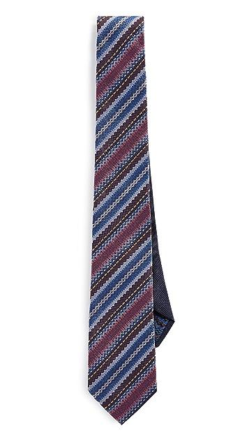 Missoni Striped Micro Print Tie