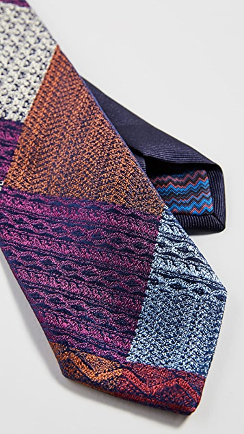 Missoni Colorblocked Mixed Materials Tie