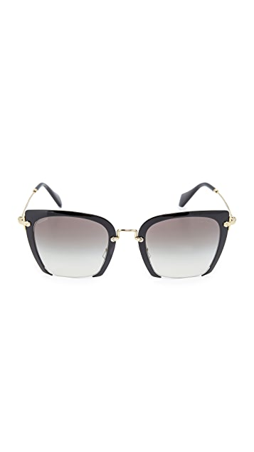 Miu Miu Cut Frame Sunglasses