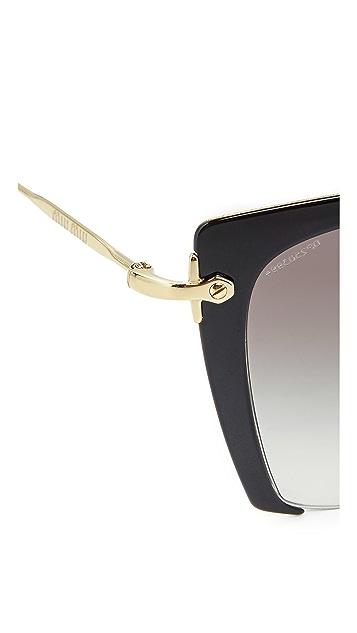 Miu Miu Солнцезащитные очки с вырезами на оправе