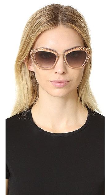 Miu Miu Солнцезащитные очки с декоративной отделкой