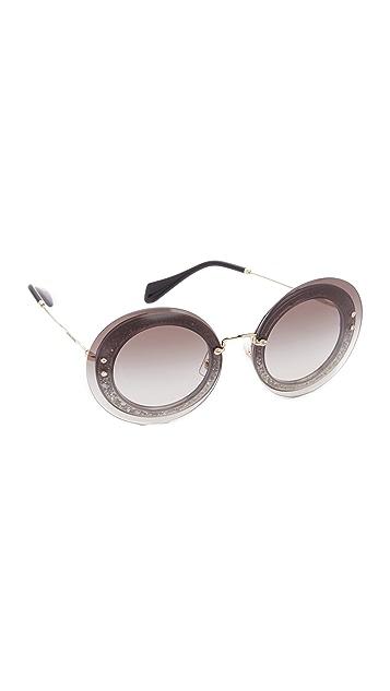62a41ff610 Miu Miu Round Sunglasses Amazon