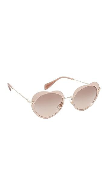 4e5978a1558 Miu Miu Heart Sunglasses