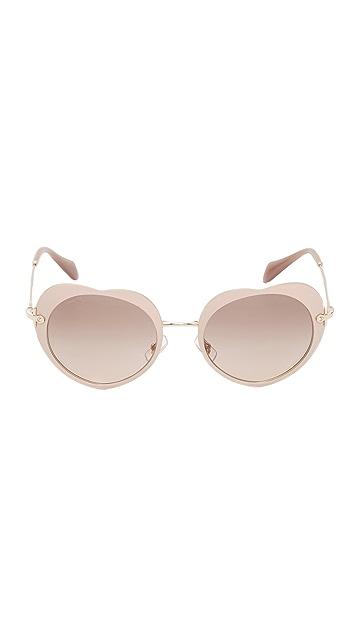 b6ca1679c45 ... Miu Miu Heart Sunglasses ...