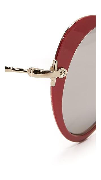 Miu Miu Heart Mirrored Sunglasses