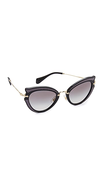 cf6b016a10e9 Miu Miu Satin Cat Eye Sunglasses ...