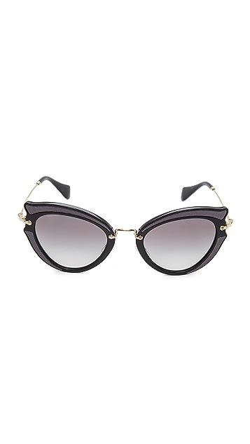 Miu Miu Satin Cat Eye Sunglasses