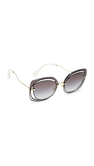 Miu Miu Cutout Square Sunglasses