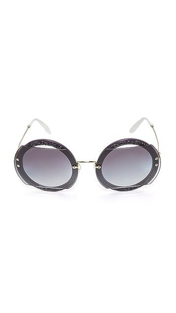 Miu Miu Glitter Reveal Sunglasses