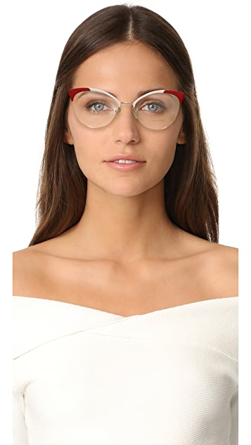Miu Miu Colorblock Glasses