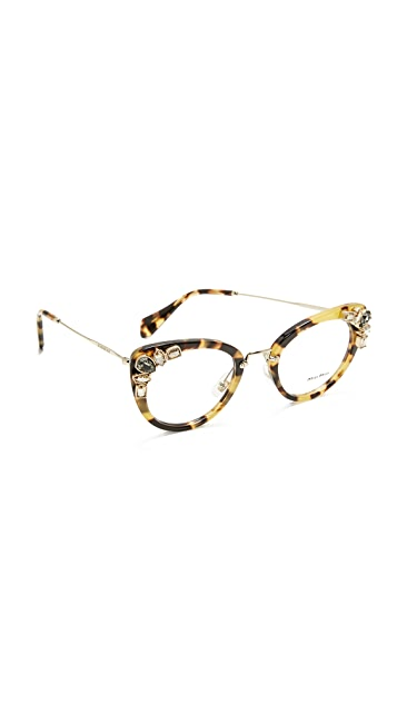 03e2c472bc63 Miu Miu Crystal Cat Eye Glasses