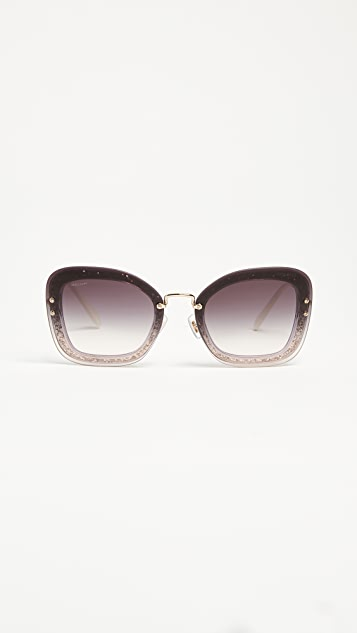 6eeacd4c0dad Miu Miu Reveal Glitter Sunglasses