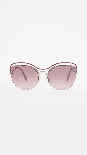Miu Miu Evolution Sunglasses - Raspberry/Pink Silver