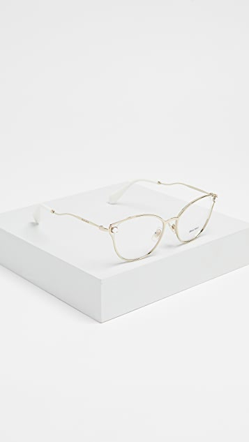 Miu Miu Imitation Pearl Glasses