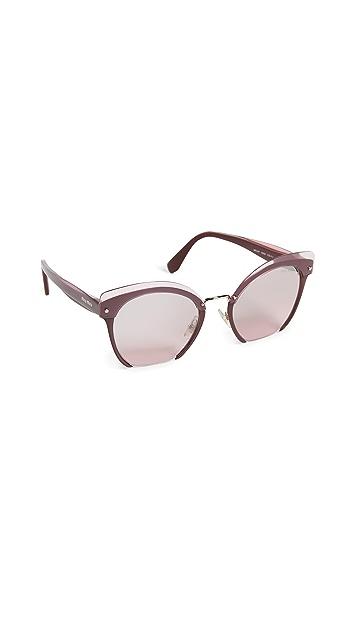 Miu Miu Cut Frame Mirrored Sunglasses