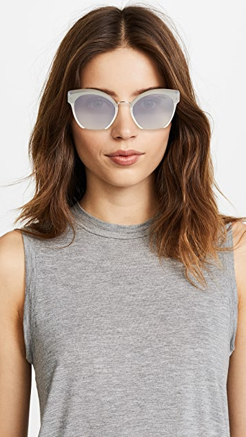 Miu Miu Cut Frame Mirrored Sunglasses
