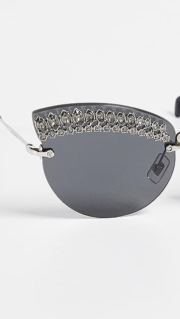 38cdc3d43b2 ... Miu Miu Crystal Cat Eye Sunglasses ...
