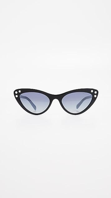 655ba28cc6a Miu Miu Crystals Cat Eye Sunglasses