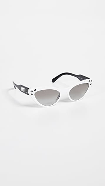 Miu Miu Crystals Cat Eye Sunglasses