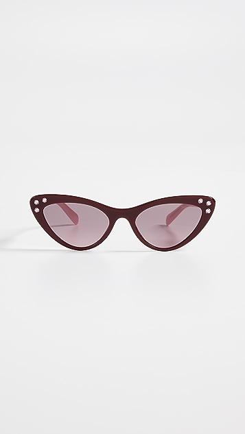 Miu Miu Crystals Cat Eye Sunglasses