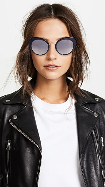 Miu Miu Round Cat Eye Sunglasses