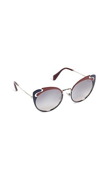 Miu Miu See Through Cat Eye Sunglasses