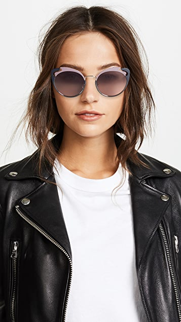Miu Miu Солнцезащитные очки «кошачий глаз» See Through