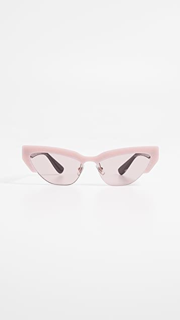 79e3c2c63a19 Miu Miu Narrow Cat Eye Sunglasses | SHOPBOP