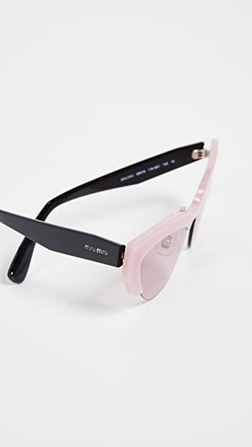 Miu Miu Narrow Cat Eye Sunglasses
