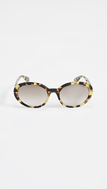 Miu Miu Oval Sunglasses