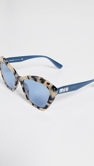Miu Miu Ацетатные солнцезащитные очки «кошачий глаз»