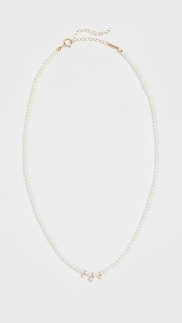Mizuki 14k Full Pearl Necklace