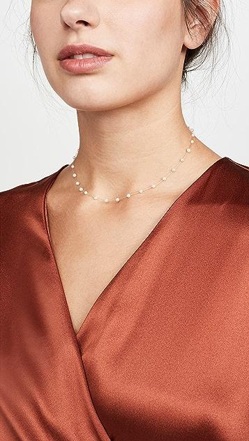 Mizuki 14k Pearl Chain Choker Necklace