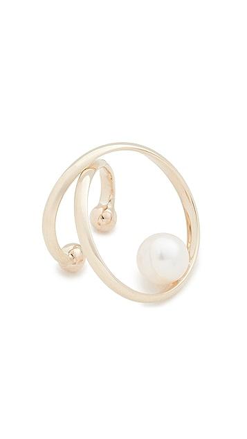 Mizuki 14k Pearl Ear Cuff