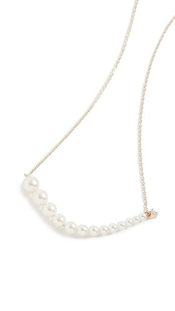 Mizuki 钻石渐变色珍珠项链