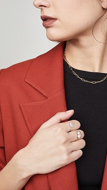 Mizuki 14k Elipse 珍珠戒指