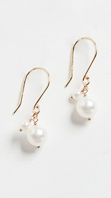 Mizuki Akoya Pearl Dangle Earrings