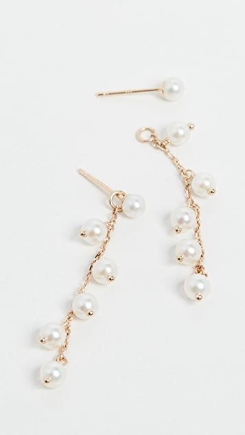 Mizuki Pearl Drop & Stud Earrings