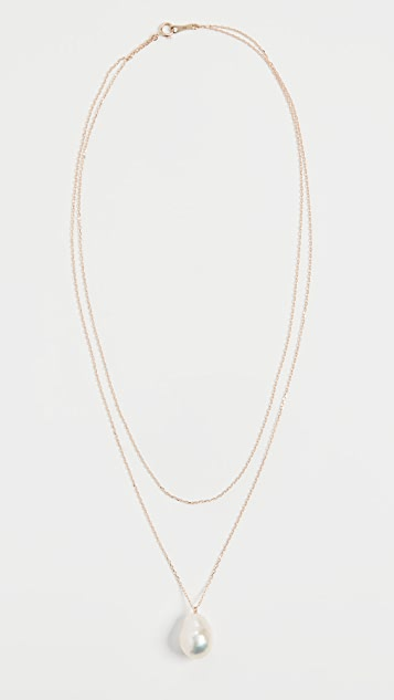 Mizuki 淡水养殖珍珠双层环绕项链
