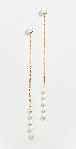 Mizuki - Pearl Chain Drop Earrings