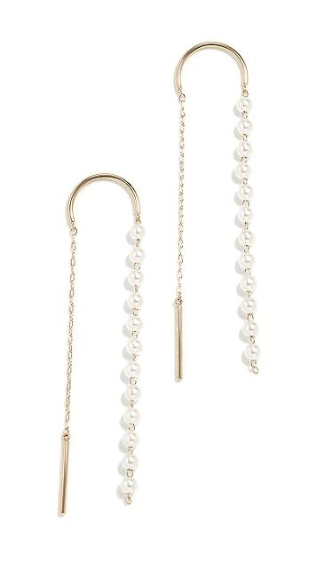 Mizuki Pearl Thread Through Earrings