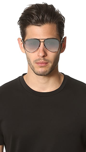 Marc Jacobs Double Frame Aviator Sunglasses