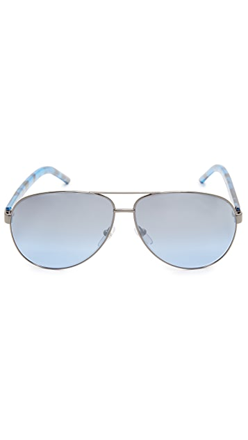Marc Jacobs Metal Aviator Sunglasses