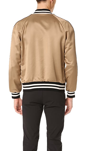 Marc Jacobs Satin Piped Bomber Jacket