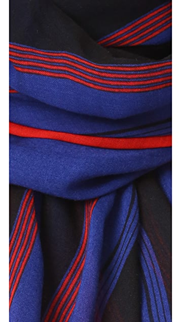 Marc Jacobs Multi Stripe Oblong Scarf