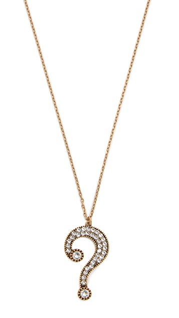 Marc jacobs question mark pendant necklace shopbop marc jacobs question mark pendant necklace aloadofball Image collections