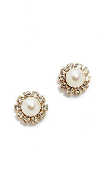 Marc Jacobs Crystal Flower Stud Earrings