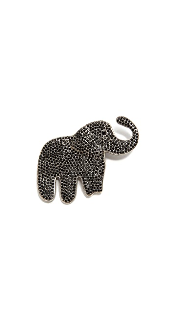 The Marc Jacobs Pave Elephant Brooch