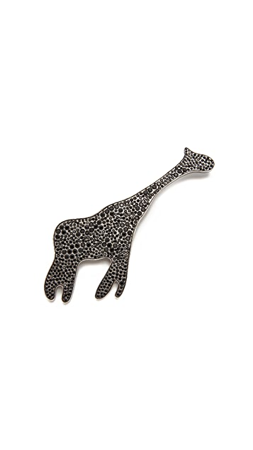 The Marc Jacobs Pave Giraffe Brooch