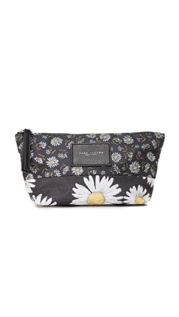 Marc Jacobs B.Y.O.T Mixed Daisy Trapezoid Cosmetic Case